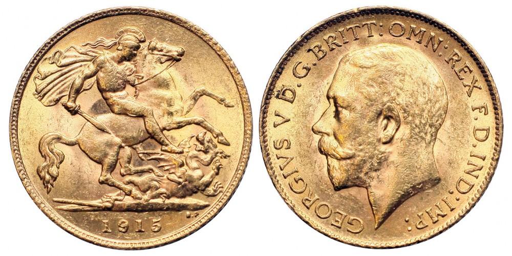 Nagy-Britannia V.György 1/2 sovereign 1915