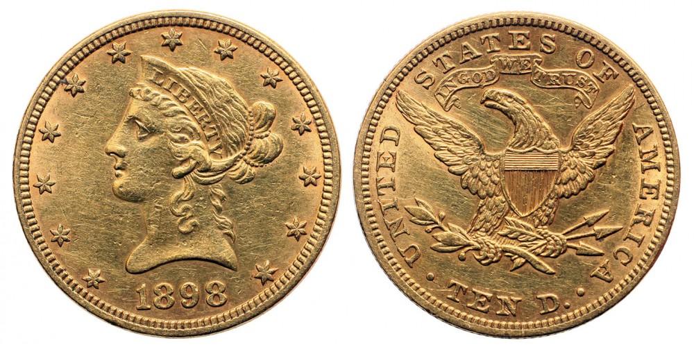USA 10 dollár 1898
