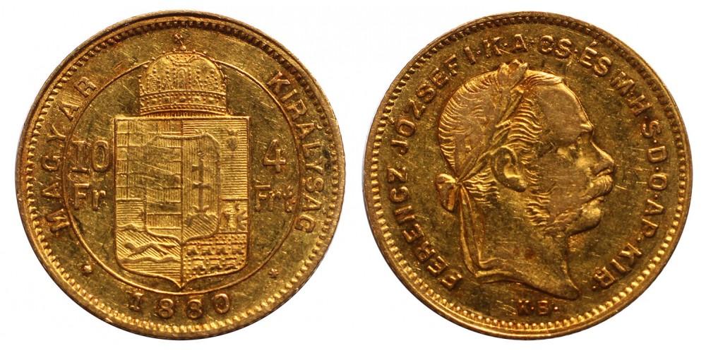 4 Forint 1880 KB