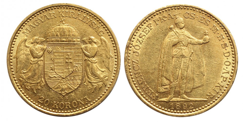 Ferenc József 20 Korona 1892