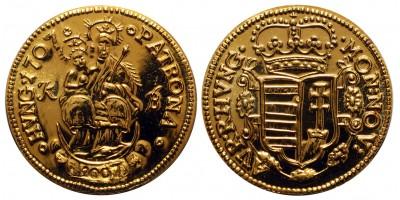 MÉE Budapest Rákóczi aranyforint 1707-2007