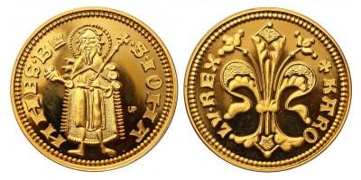 Károly Róbert aranyforint modern arany utánveret