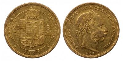 Ferenc József 8 forint 1871 GYF