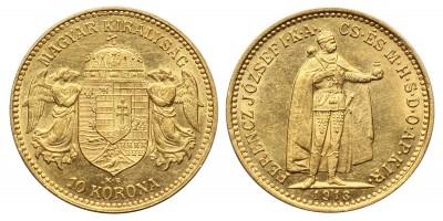 Ferenc József 10 Korona 1913 KB