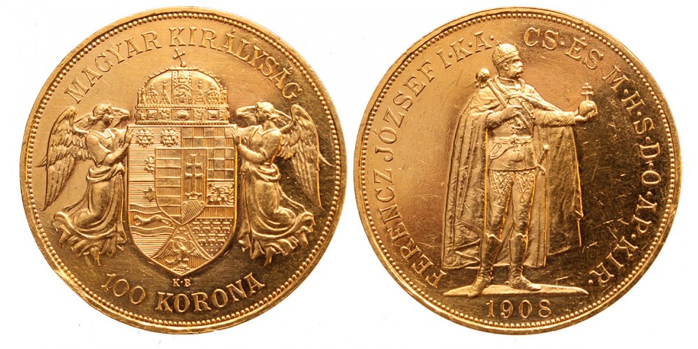 Ferenc József 100 korona 1908 KB.