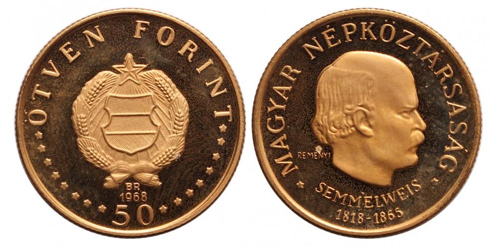 Semmelweis Ignác 50 forint 1968