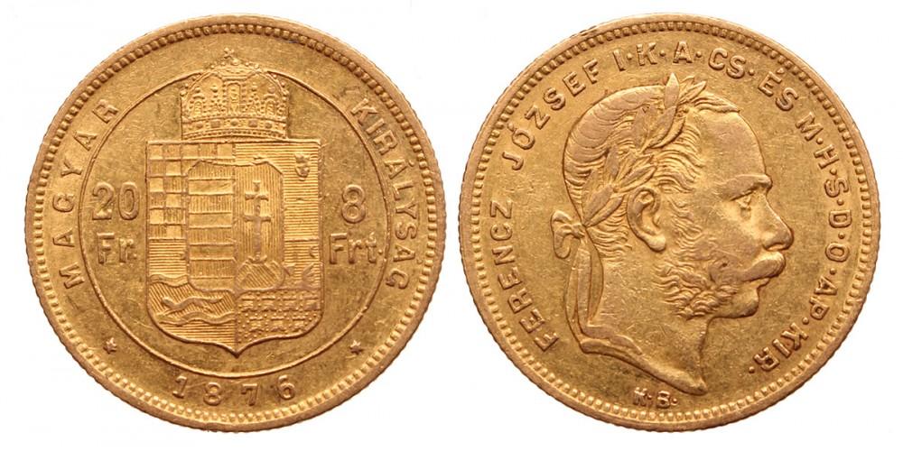 20 frank 8 forint 1876 KB