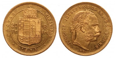 20 frank 8 forint 1875 KB