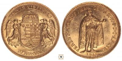 Ferenc József 10 korona 1913 KB, R!