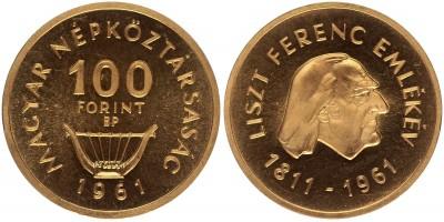 100 forint Liszt Ferenc 1961
