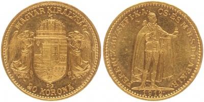 Ferenc József 20 korona 1912 KB
