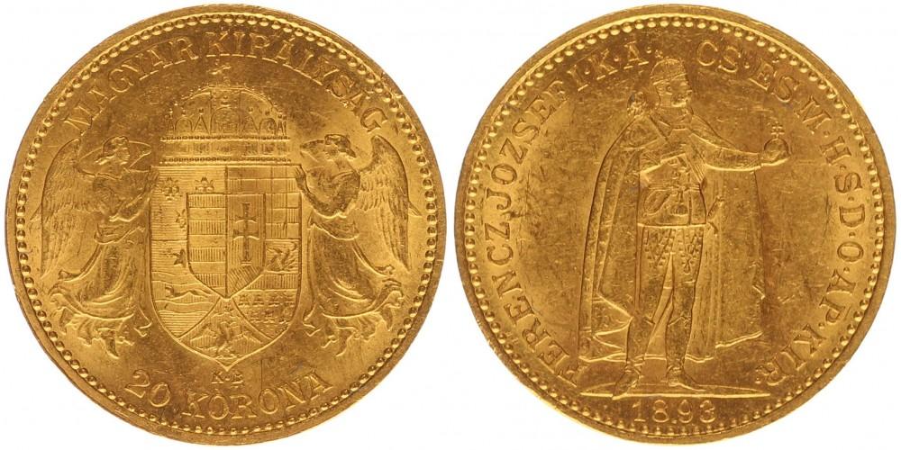 Ferenc József 20 korona 1893 KB