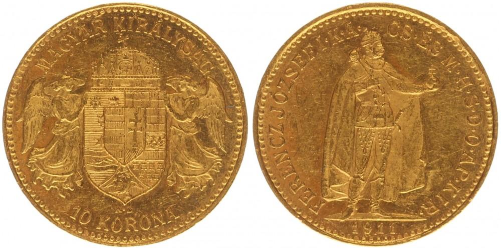 Ferenc József 10 korona 1911 KB
