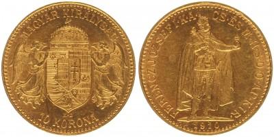 Ferenc József 10 korona 1910 KB