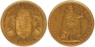 Ferenc József 10 korona 1909 KB