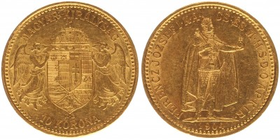 Ferenc József 10 korona 1904 KB