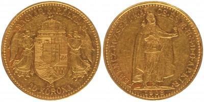 Ferenc József 10 korona 1908 KB
