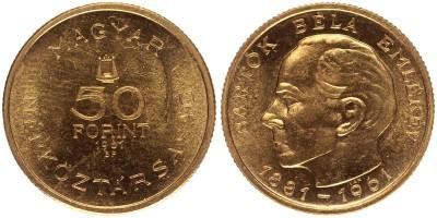 50 forint Bartók Béla 1961