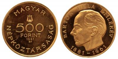 500 forint Bartók Béla 1961