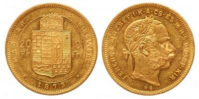 20 frank 8 forint 1873 KB