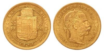 20 frank 8 forint 1874 KB