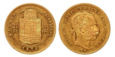 20 frank 8 forint 1878 KB