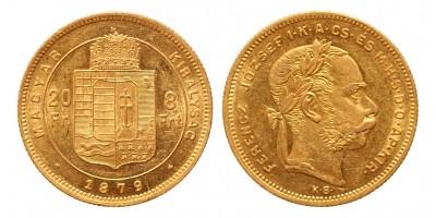 20 frank 8 forint 1879 KB