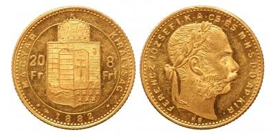 20 frank 8 forint 1882 KB