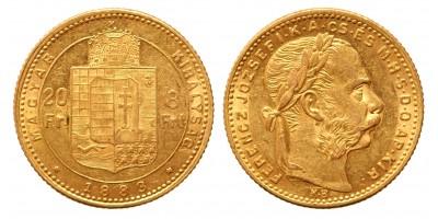 20 frank 8 forint 1883 KB