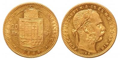 20 frank 8 forint 1884 KB
