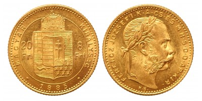 20 frank 8 forint 1885 KB