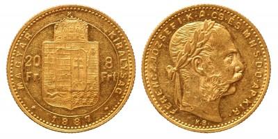 20 frank 8 forint 1887 KB