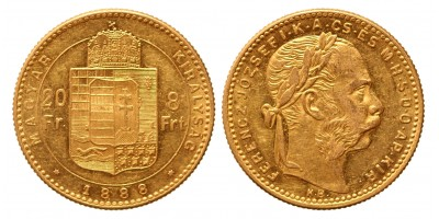 20 frank 8 forint 1888 KB