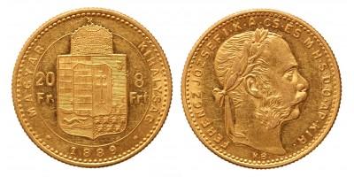 20 frank 8 forint 1889 KB