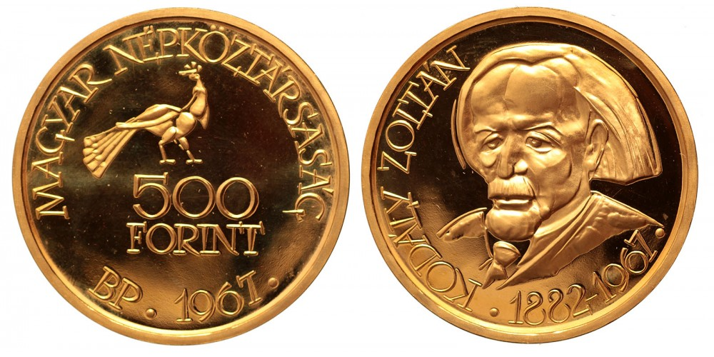 500 forint Kodály Zoltán 1967