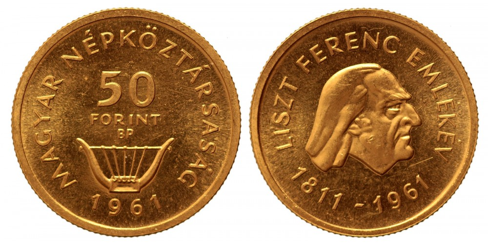 50 forint Liszt Ferenc 1961