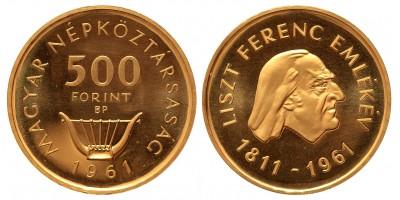 500 forint Liszt Ferenc 1961