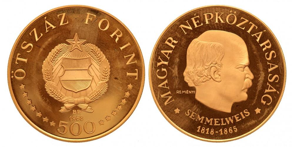 500 forint Semmelweis 1968 BP