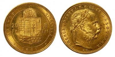Franz Joseph 8 Forint 1881 KB