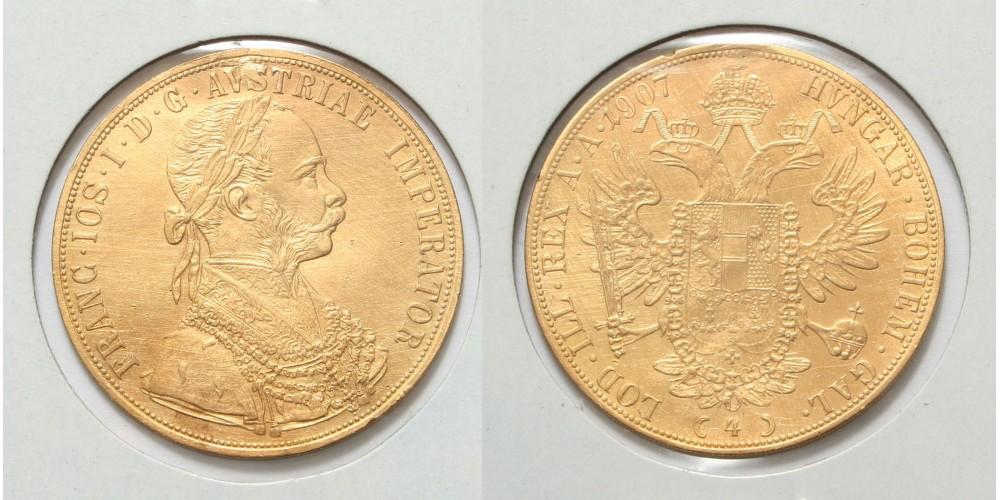 Ferenc József 4 dukát 1907
