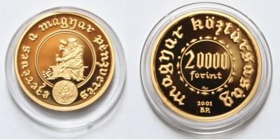 Ezeréves a magyar pénzverés 20000 forint 2001