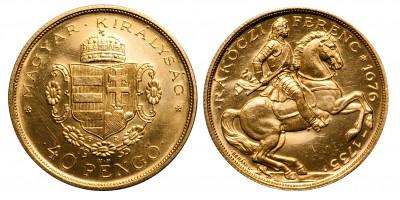 Francis II. Rákóczi 40 pengő 1935 U.P