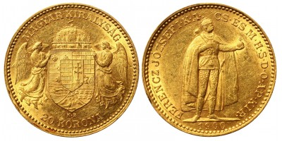 Franz Joseph 20 korona 1900 KB