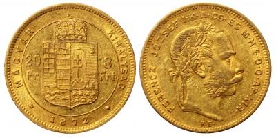 Franz Joseph 8 Forint 1872 KB
