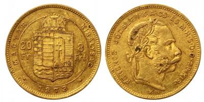 Franz Joseph 8 Forint 1873 KB