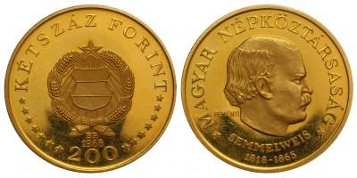 Semmelweis 200 forint 1968