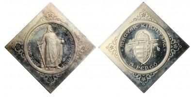 Szent István 5 Pengő 1938 U.P. Csegely