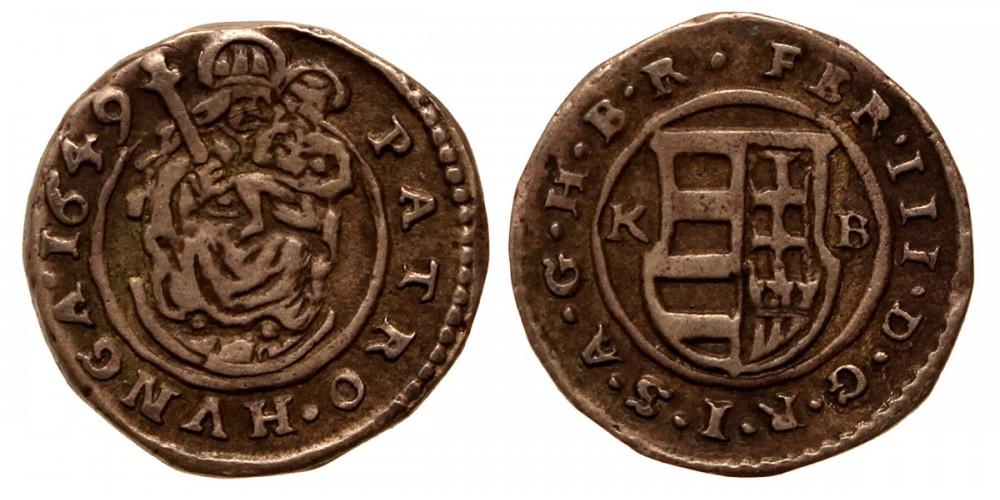 III. Ferdinánd denár 1649 KB