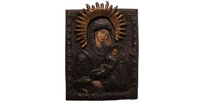 Orosz Kazanyi Istenanya ikon okláddal 1900 körül