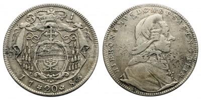 Salzburg, Erzbistum, Hieronymus Graf Colloredo  20 krajcár 1786 M